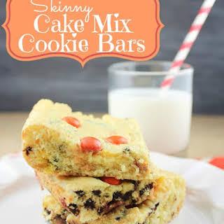 Skinny Cake Mix Cookie Bars.