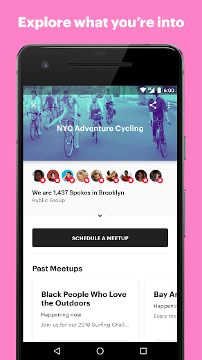 Screenshot 2 for Meetup's Android app'