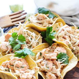 Shrimp and Cabbage Crunchy Tacos