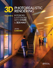 Photo: 3D Photorealistic Rendering: Interiors & Exteriors with V-Ray and 3ds Max  The Book is available for Rent/View online, or for Download on VitalSource.com    Alternatively, you can find the book in Book Stores, or on Amazon, in kindle and Paperback formats.