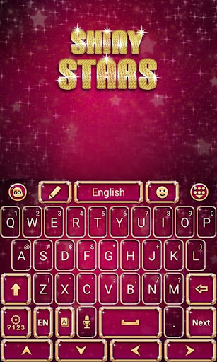 Shiny Stars Keyboard Theme