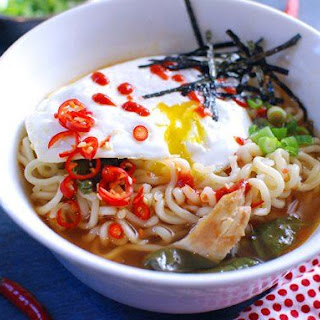 Easy Spicy Chicken Ramen Noodle Soup