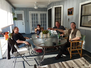 Photo: From the left: Grace, Brian, Tony and Siggi at Brian's house in Longwood (near Orlando).
