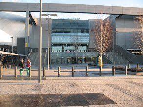 Photo: Front entrance to the Emirates Arena, Glasglow