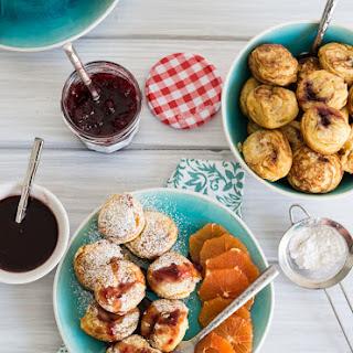Jam Filled Aebleskivers ( Danish Pancakes)