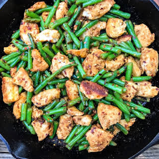Garlic Crushed Red Pepper Chicken Stir Fry.