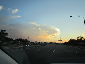 Photo: More clouds at sunset between Amarillo and Canyon.