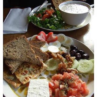 Mediterranean Tomato and Cucumber Salad.