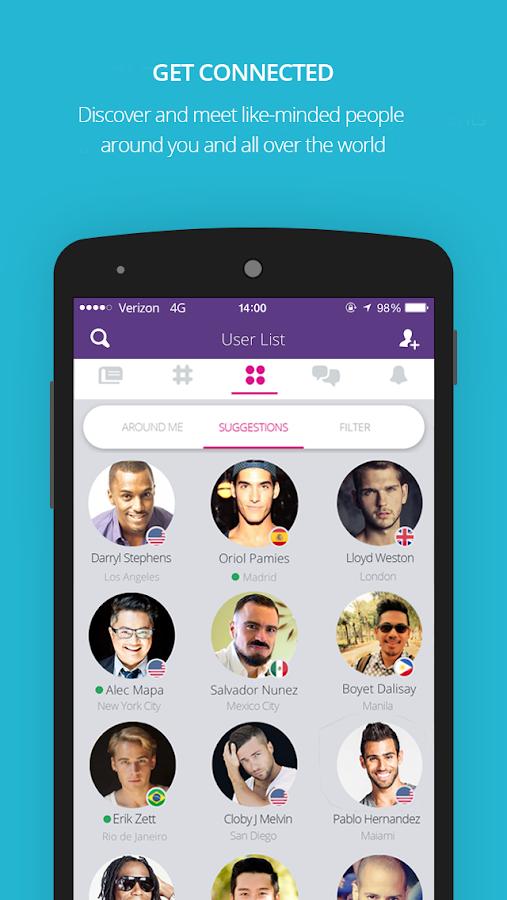 Moovz- The LGBT Social Network- screenshot