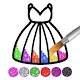 Glitter dress coloring and drawing book for Kids APK