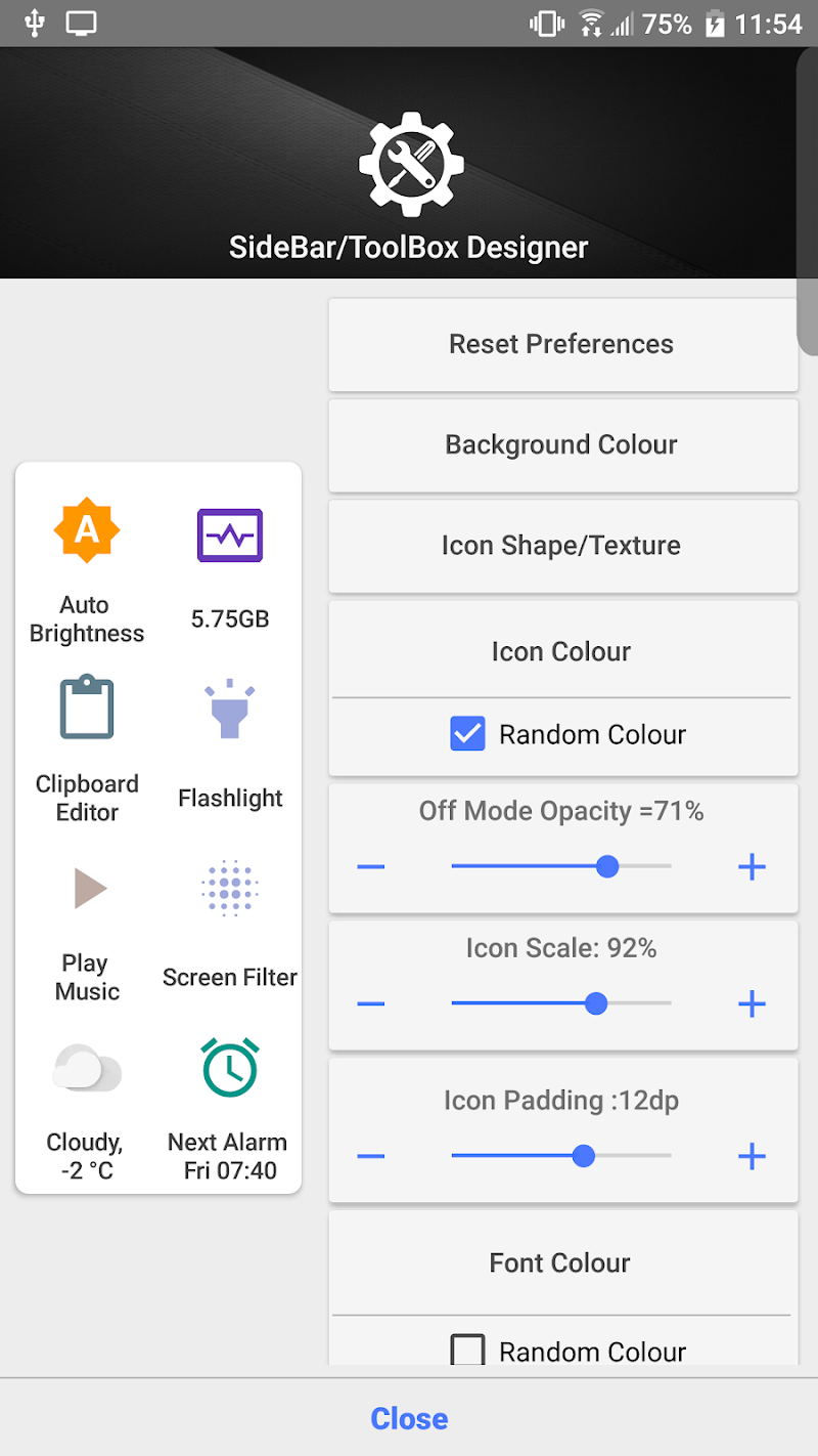 Shortcutter Quick Settings, Sidebar & Shortcut's. Screenshot 7