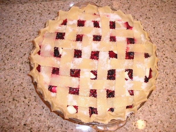I love lattice topping, next cover fruit with lattice topping then with your CLEAN...