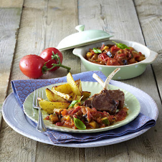 Lamb Ratatouille with Potato Wedges.