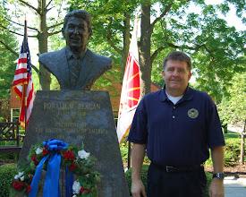Photo: Ronald W. Reagan Society member Kent McCanless of Eureka, Illinois attended the Reagan Memorial Service, June 5, 2012.