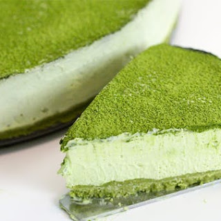Matcha Green Tea No-Bake Cheesecake.