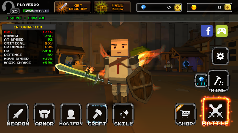 Pixel F Blade - 3D Fantasy rpg Screenshot 14