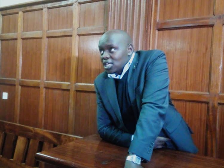 Nandi Senator Samson Cherargei at a Milimani court on Tuesday, December 3, 2019.