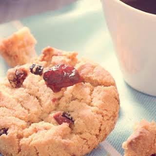 Almond Flour Mini Chocolate Chip Cranberry Cookies.