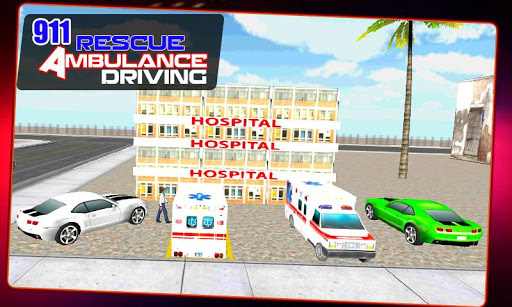 911 Rescue Ambulance Drive Sim