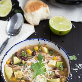 {Slow Cooker} Salsa Verde Chicken Soup