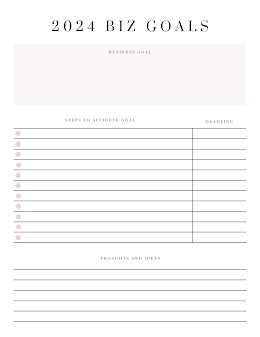 Bulleted Document - Business Plan item