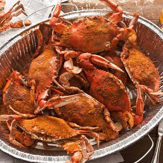 Basic Steamed Blue Crabs.