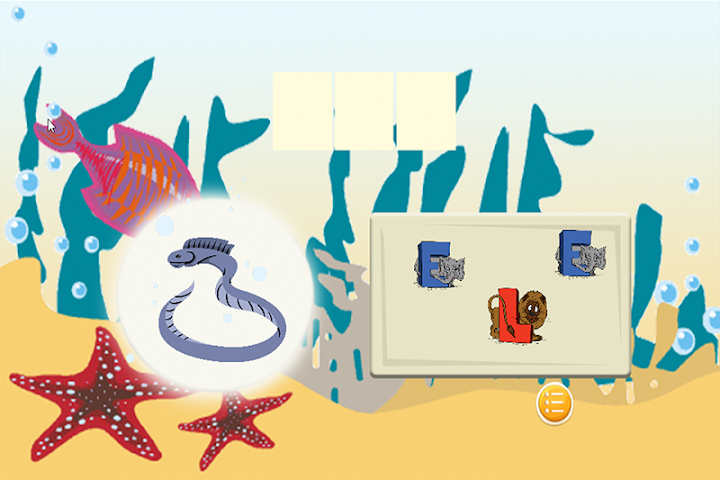 android Spelling Words Sea Animal Screenshot 3
