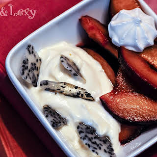 Black Sesame Plum Yogurt Parfait.