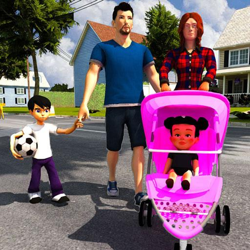 Baixar Virtual Mother Life Simulator - Baby Care Games 3D para Android