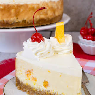 Orange Cream Cheesecake.