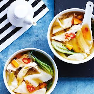Chicken Wonton Noodle Soup.