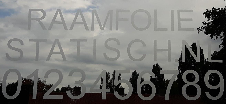 Raamfolie statische plakcijfers / huisnummers / plakletters kopen?