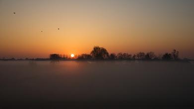 Photo: Zwolle, Vreugderijkerwaard 18 april 2010. tussen 6.00 - 7.00