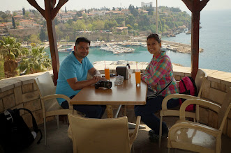 Photo: the waiter essentially lured us in for some fresh orange juice and awesome view, i wasn't even mad