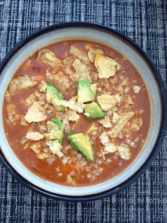 Refried Bean Tortilla Soup Recipe