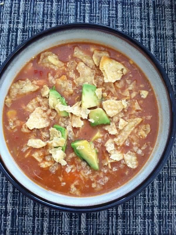 Refried Bean Tortilla Soup
