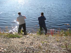 Photo: Bart en ik naast mekaar aan het fotograferen.