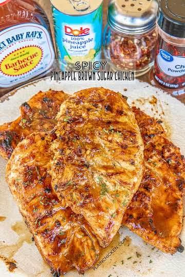 Spicy Pineapple Brown Sugar Chicken - Plain Chicken