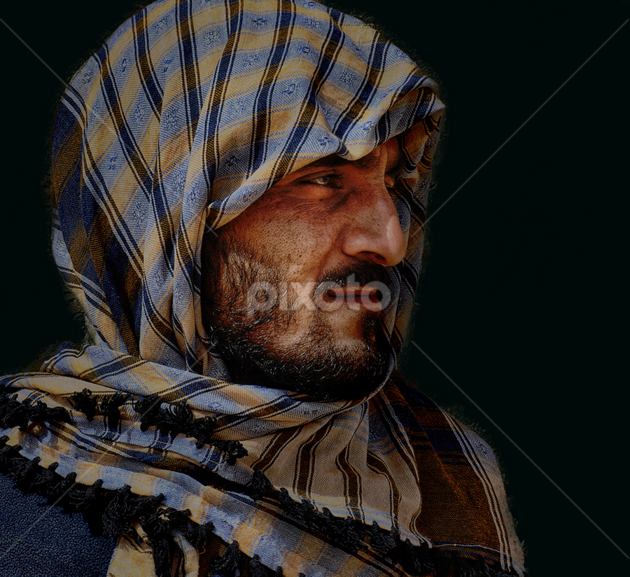 PAKISTANI by Angelito Cortez - People Portraits of Men ( arab, sad, scrap, portrait, man )