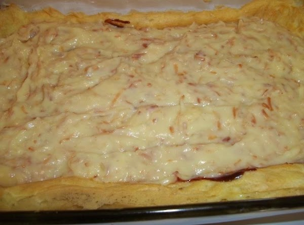 When pudding is cool, spread evenly over Ganache layer. Top with whipped cream and...