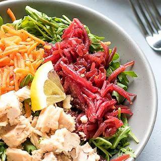 Arugula Tuna Beet Salad.