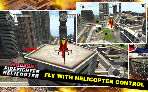 Code Triche Modern Firefighter Helicopter APK MOD screenshots 3