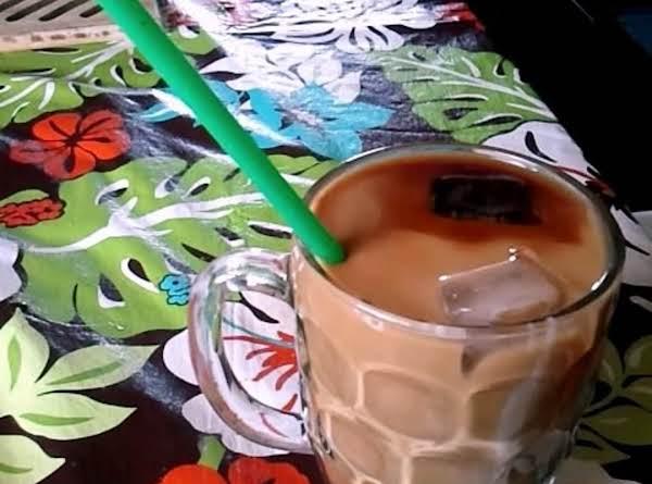 Creamy Iced Hazelnut Coffee