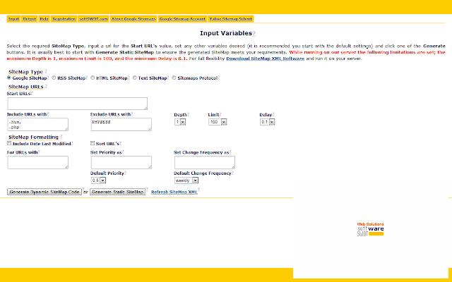sitemap xml software chrome web store