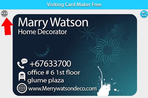 Visiting Card Maker Free 1.4 screenshots 4