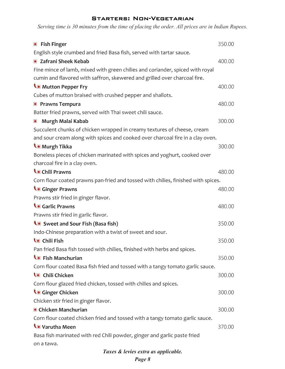 Cafe @ Elanza menu 4