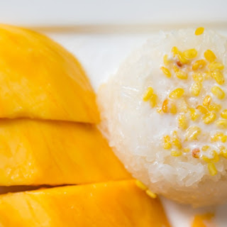 Coconut Milk Sticky Rice with Mangoes