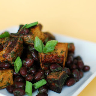 Lime Cilantro Sweet Potatoes with Black Beans.