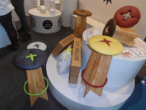 Photo: Handmade Bottone chair, natural oak and soft faux leather. Bozu, www.bozu.it #ambiente14