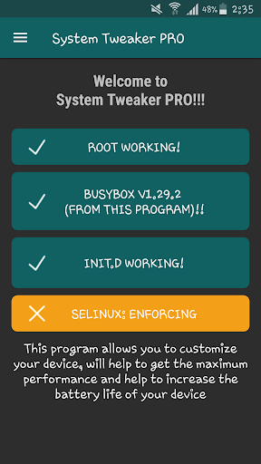 System Tweaker PRO [root]  screenshots 2
